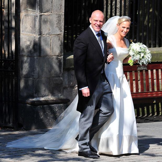 The wedding of Zara Phillips and Mike Tindall at Canongate Kirk, Edinburgh, Scotland - 30.07.11