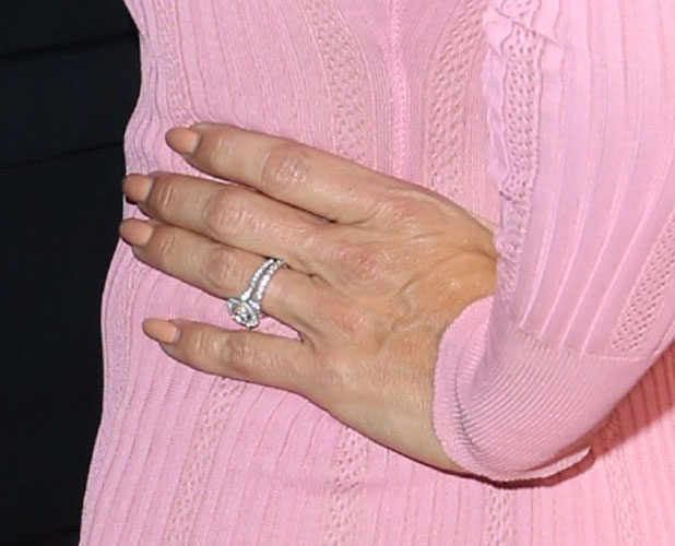 Pamela Anderson flashes wedding ring at Sean Penn 3rd Annual Help Haiti Home Gala Benefiting J/P HRO Presented By Giorgio Armani At Montage Hotel, 11 January 2014