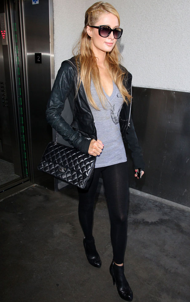 Paris Hilton arrives at the Los Angeles International Airport, America - 16 Jan 2014