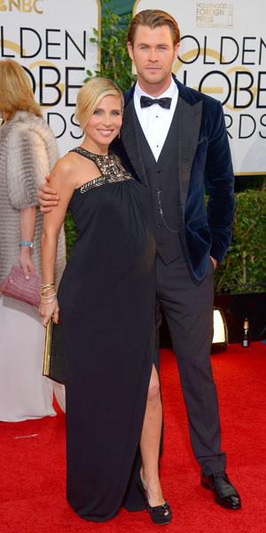 Chris Hemsworth, Elsa Pataky, 71st Annual Golden Globe Awards, Arrivals, Los Angeles, America - 12 Jan 2014