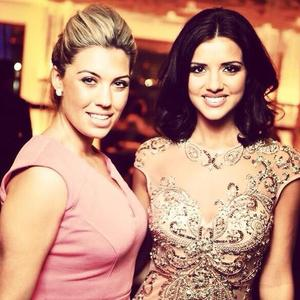Lucy Mecklenburgh with a friend on holiday in Dubai (23 January)