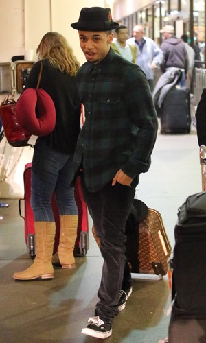 Aston Merrygold of JLS arrives at Los Angeles International Airport (LAX) on a flight from London 21.1.2014