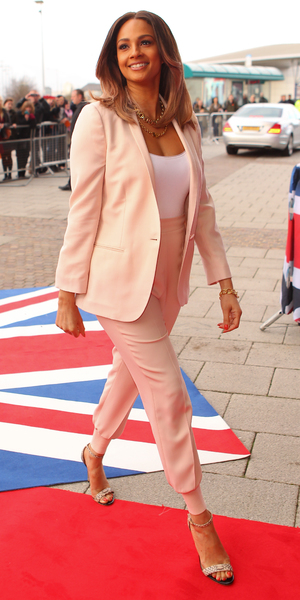 Arrivals for the Cardiff round of auditions for Britain's Got Talent Alesha Dixon 01/23/2014 in Cardiff, United Kingdom