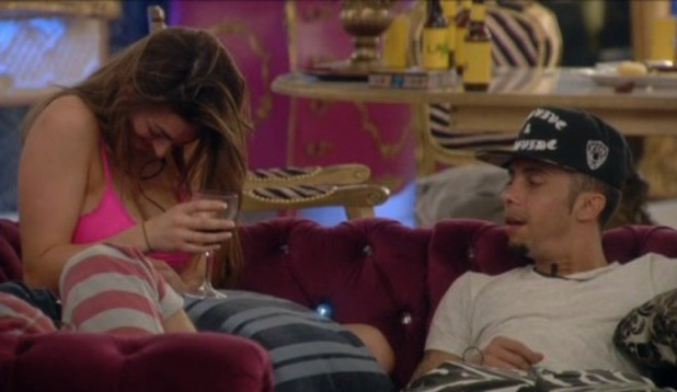 Celebrity Big Brother's Luisa Zissman and Dappy get drunk - 19 Jan 2014