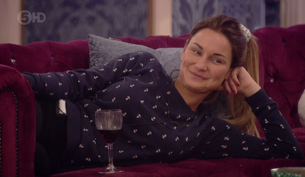 Celebrity Big Brother - Sam Faiers speaks to housemates on the sofa (21 January 2014).
