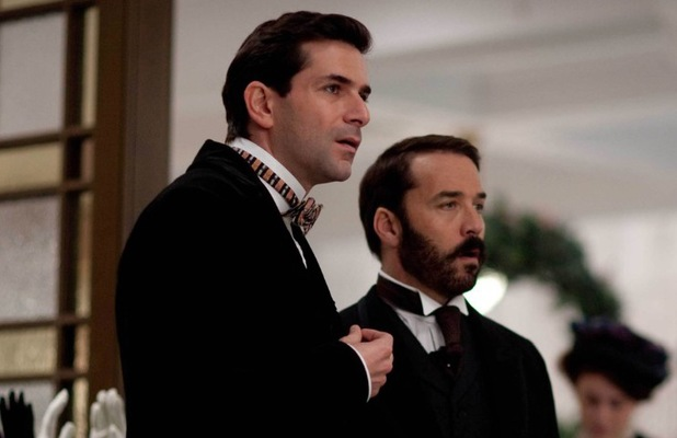Jeremy Piven and Gregory Fitoussi star in ITV's Mr Selfridge, 2014