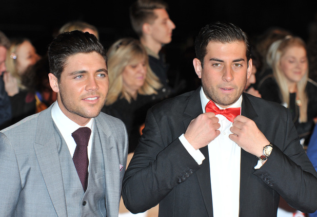 James 'Arg' Argent and Tom Pearce at the National Television Awards, London - 22.1.2014