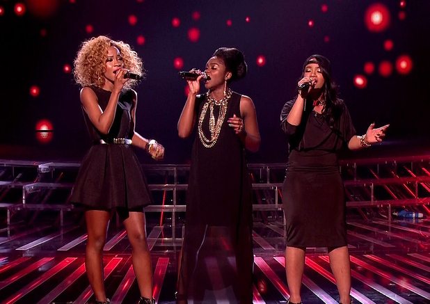 The X Factor - Miss Dynamix performs during the sing-off on 'The X Factor - Results', Shown on ITV1 HD