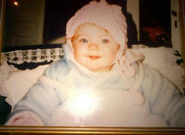 Childhood photo of Lydia Bright when she was a baby posted by mum Debbie.