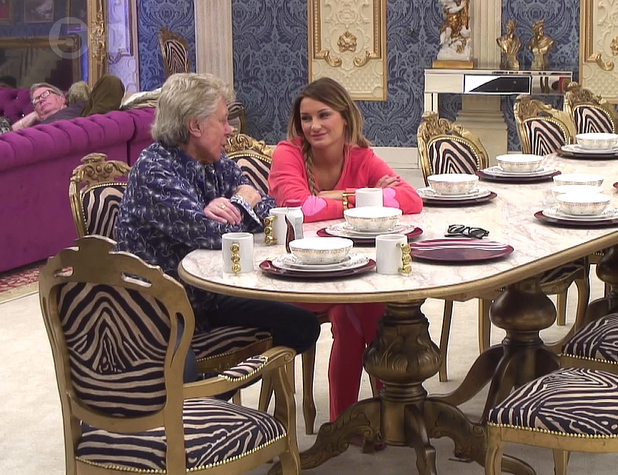 Lionel Blair and Sam Faiers on Celebrity Big Brother, Shown on Channel 5 HD 01/12/2014
