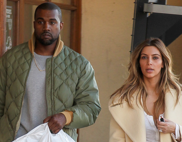 Kim Kardashian and Kanye West shop at Sport Store in Los Angeles