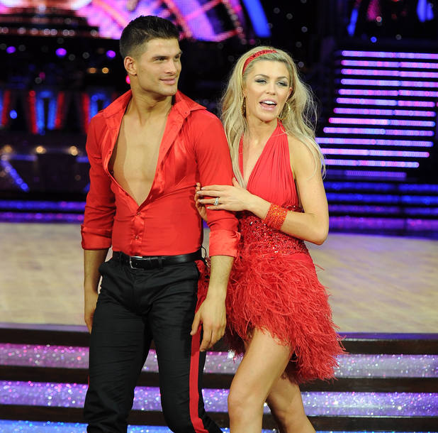 Abbey Clancy, Aljaz Skorjanec - Celebrities and Professional dancers at the Strictly Come Dancing Live Tour at the NIA Arena Birmingham, UK 01/16/2014. Birmingham, United Kingdom.