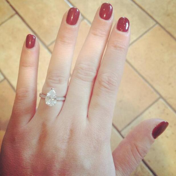 Chloe Tangney tweets picture of engagement ring after JLS's JB Gill pops the question, 25 January 2014