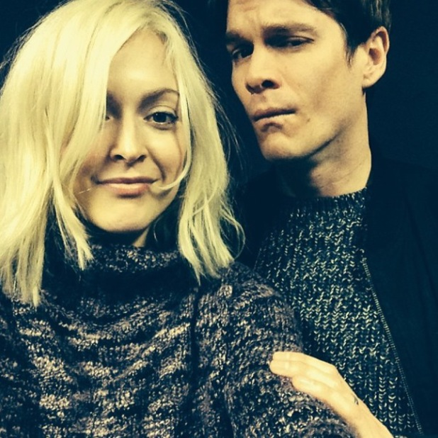 Fearne Cotton and fiancé Jesse Wood wear matching jumpers - 20.1.2014