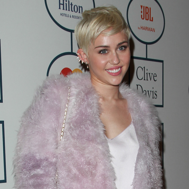 Miley Cyrus attends the 2014 Pre-Grammy Gala & Grammy Salute to Industry Icons - Clive Davis at The Beverly Hilton Hotel - 25 January 2014
