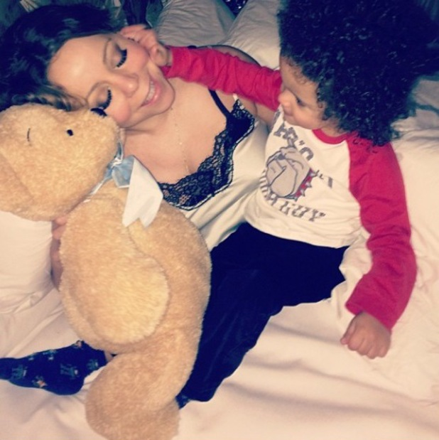 Mariah Carey shares photo of son Moroccan while celebrating Martin Luther King Day. (20 January 2014).