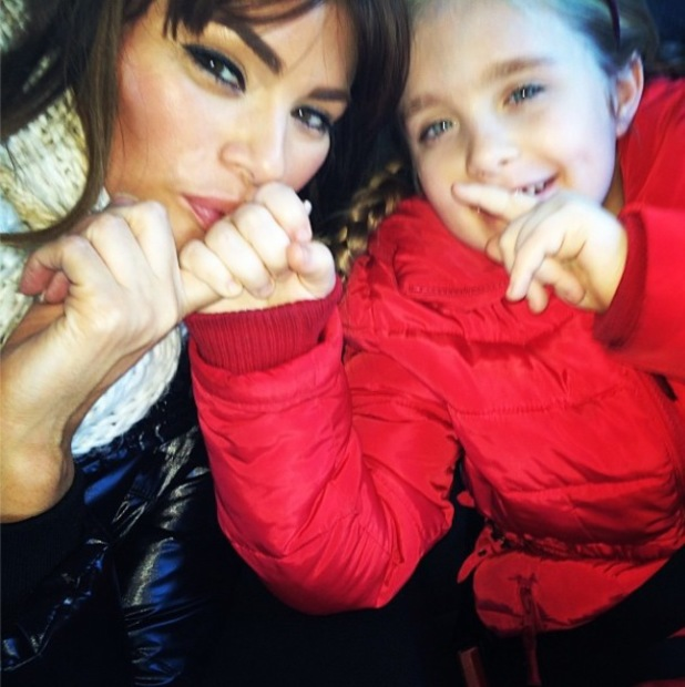 TOWIE's Chloe Sims takes daughter Madison to ZSL London Zoo - 20 jaN 2014
