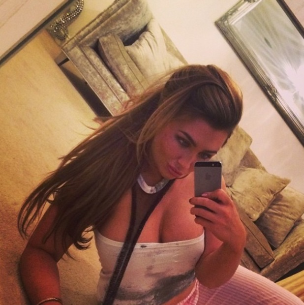 Lauren Goodger poses for a selection of pictures at home - 24 Jan 2014