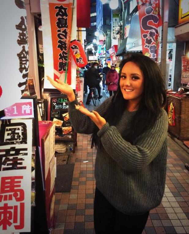 Charlotte Crosby shares photos from her trip to Tokyo for her brand new reality show. (20 January).