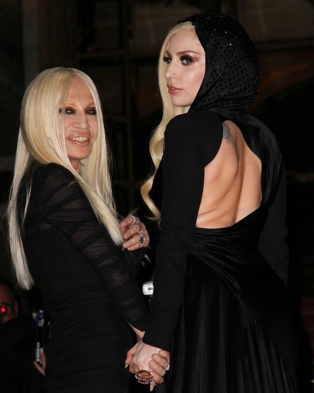 Paris Fashion Week Haute Couture Spring/Summer 2014 - Lady Gaga and Donatella Versace 19.01.2014