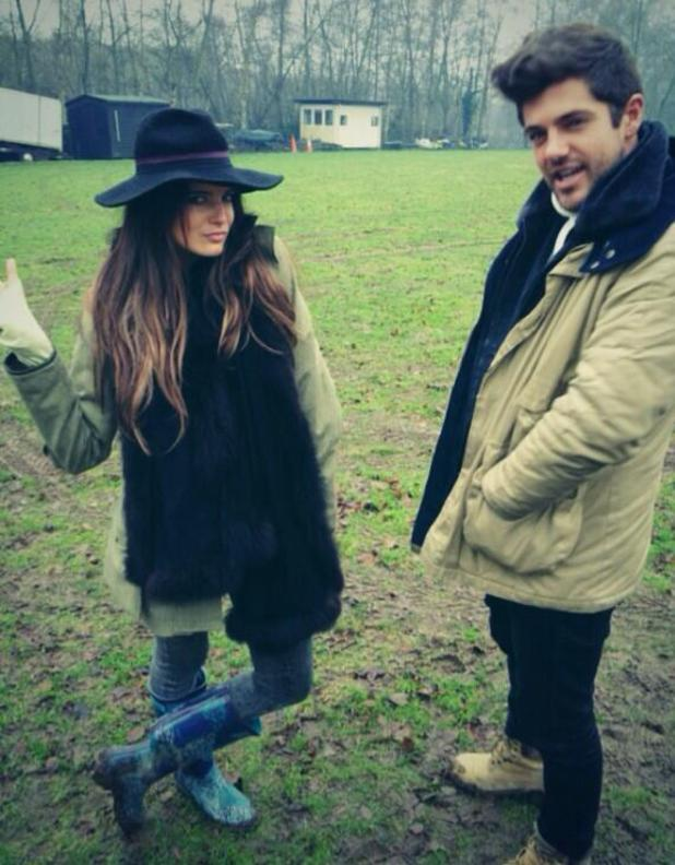 Made In Chelsea: Binky Felstead and Alex Mytton filming (23 January).