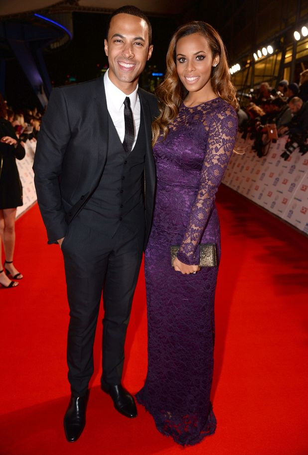 Marvin Humes and Rochelle Wiseman on the red carpet at the National Television Awards, The O2, London, Britain - 22 Jan 2014
