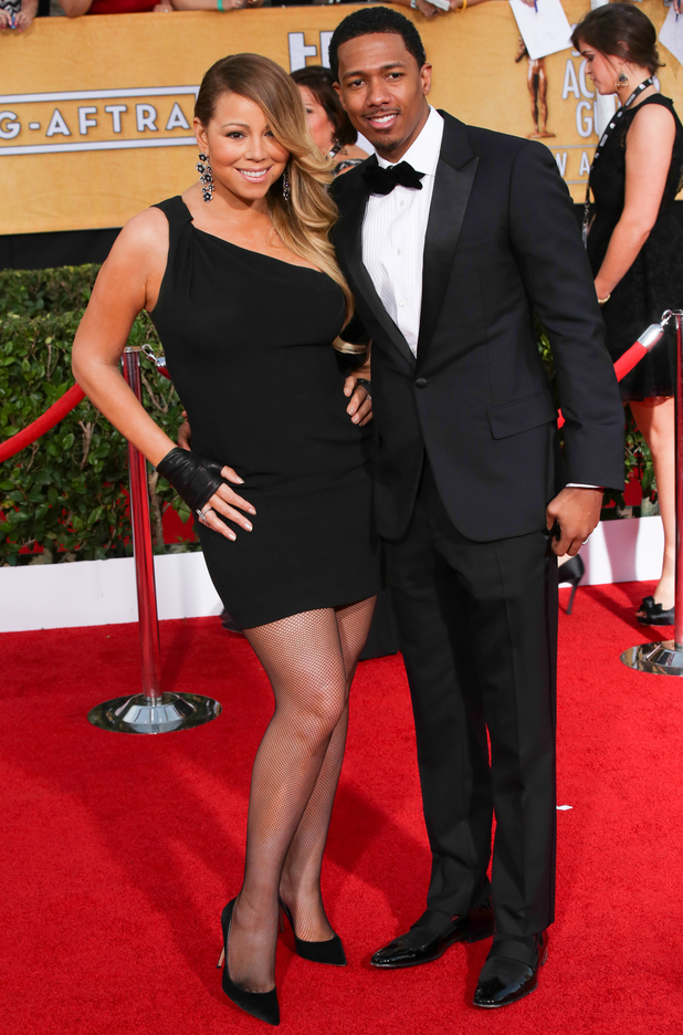 The 20th Annual Screen Actors Guild (SAG) Awards held at The Shrine Auditorium in Los Angeles, United States. Mariah Carey and Nick Cannon - 01/18/2014.