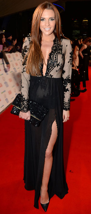 Danielle Lloyd at the National Television Awards, 22 January 2014