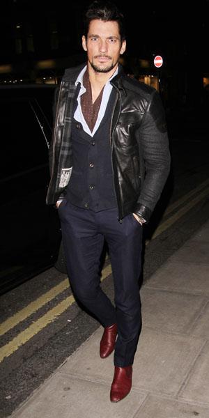 David Gandy at Guess party on 20 January 2014