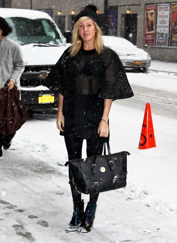 Ellie Goulding at the Ed Sullivan Theater for the Late Show With David Letterman, 21 January 2014