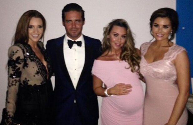 Michelle Heaton with Jessica Wright, Danielle Lloyd and Spencer Matthews at the NTAs, 22 January 2014