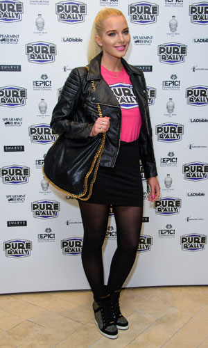 Helen Flanagan at the Pure Car Rally on 23 January 2014