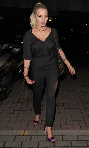 Helen Flanagan out in London on 23 January 2014