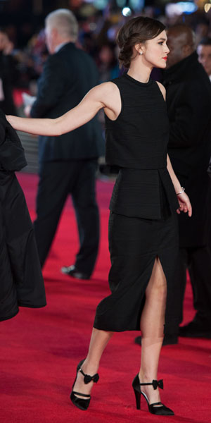 Keira Knightley at Jack Ryan: Shadow Recruit premiere on 20 January 2014