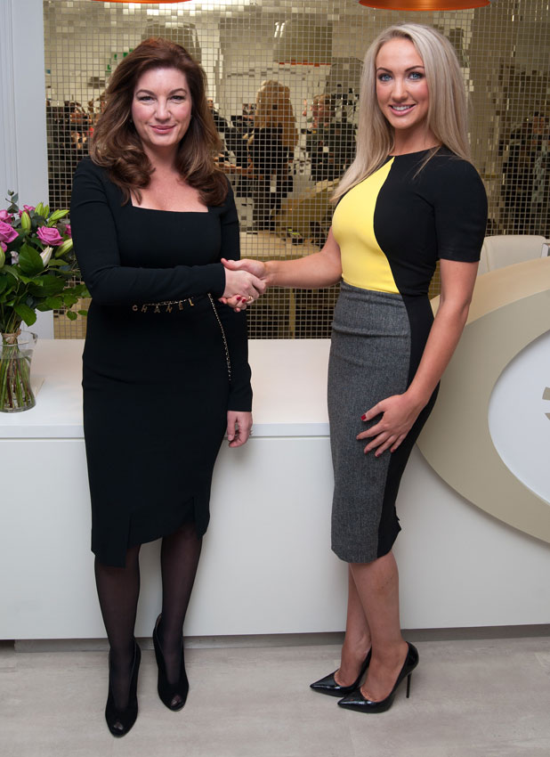 Leah Totton and Karren Brady launch the first Dr Leah cosmetic clinic, 22 January 2014