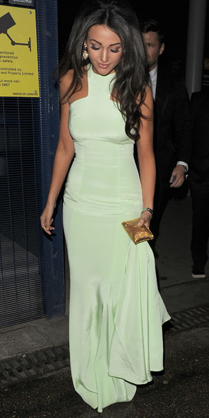 Michelle Keegan arrives at the NTAs by boat, 22 January 2014