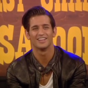 Celebrity Big Brother - Last Chance Saloon task. Ollie Locke answers questions from housemates and public (28 January).