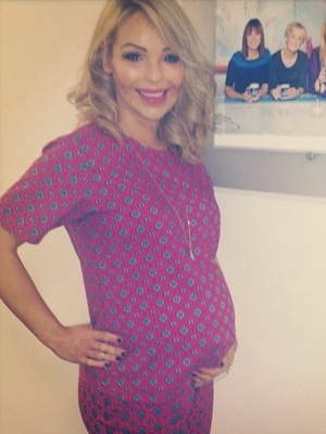 Katie Piper poses backstage at Loose Women (29 January).