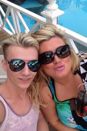 TOWIE's Gemma Collins on holiday with Harry Derbidge (28 January 2014).