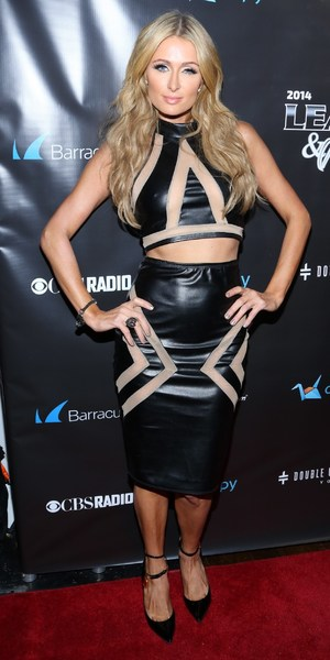 Paris Hilton attends 11th Annual Leather & Laces party, New York, America - 31 Jan 2014