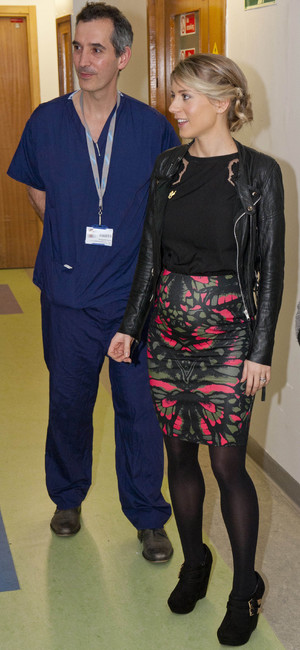 Melanie Slade becomes patron of the Children's Air Ambulance, Southampton General Hospital, Britain - 30 Jan 2014