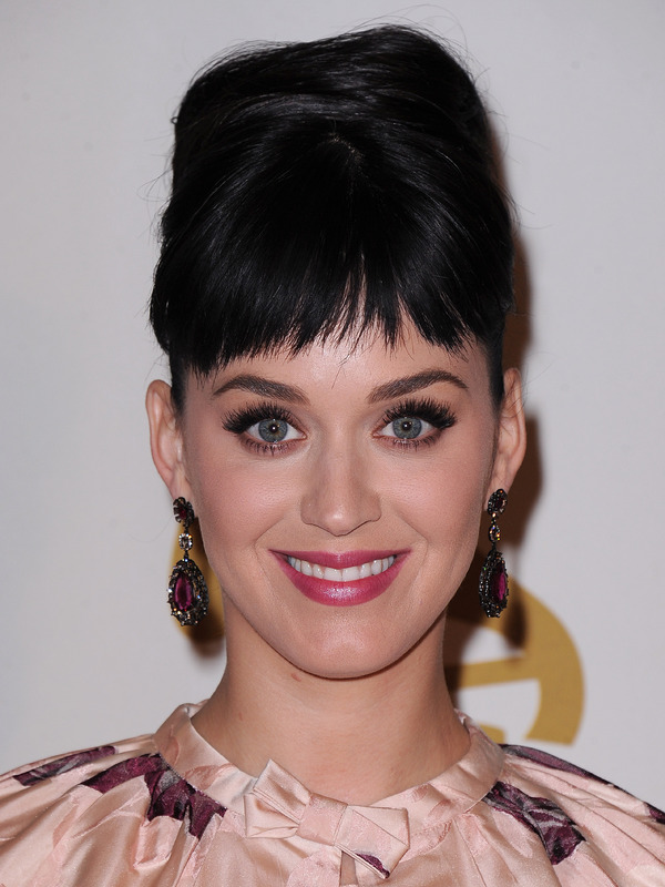 Katy Perry smiling in a close up shot on the red carpet at a Beatles event - Los Angeles, 27th January 2014