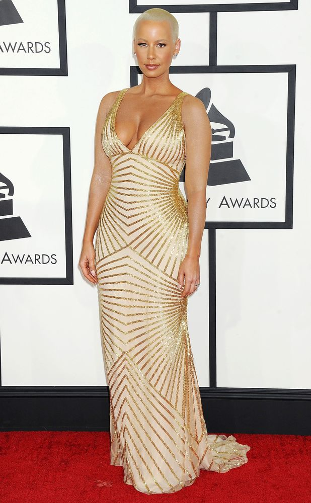 Amber Rose, 56th Annual Grammy Awards, Arrivals, Los Angeles, America - 26 Jan 2014