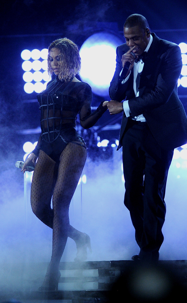 Beyonce and Jay-Z, The 56th Annual GRAMMY Awards held at the Staples Center - Performance, 26th January 2014