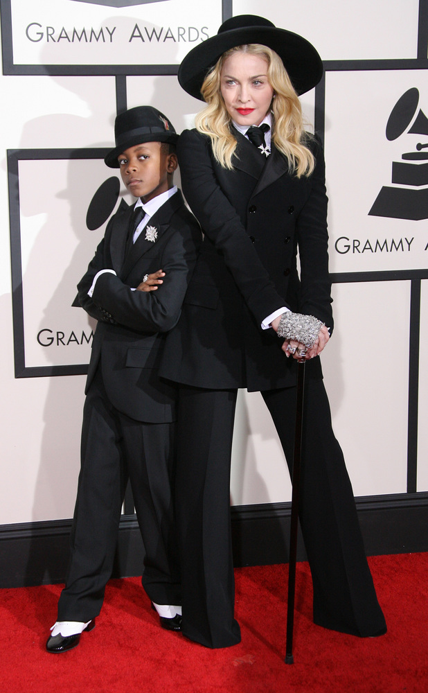 Madonna and son David, 56th Annual Grammy Awards, Arrivals, Los Angeles, America - 26 Jan 2014