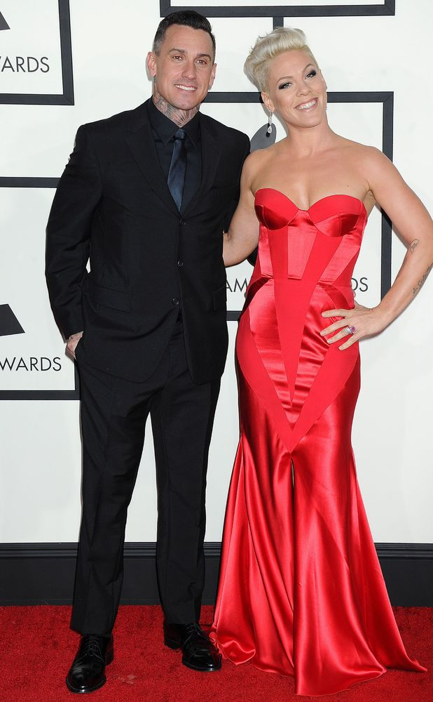 Pink and Carey Hart, 56th Annual Grammy Awards, Arrivals, Los Angeles, America - 26 Jan 2014