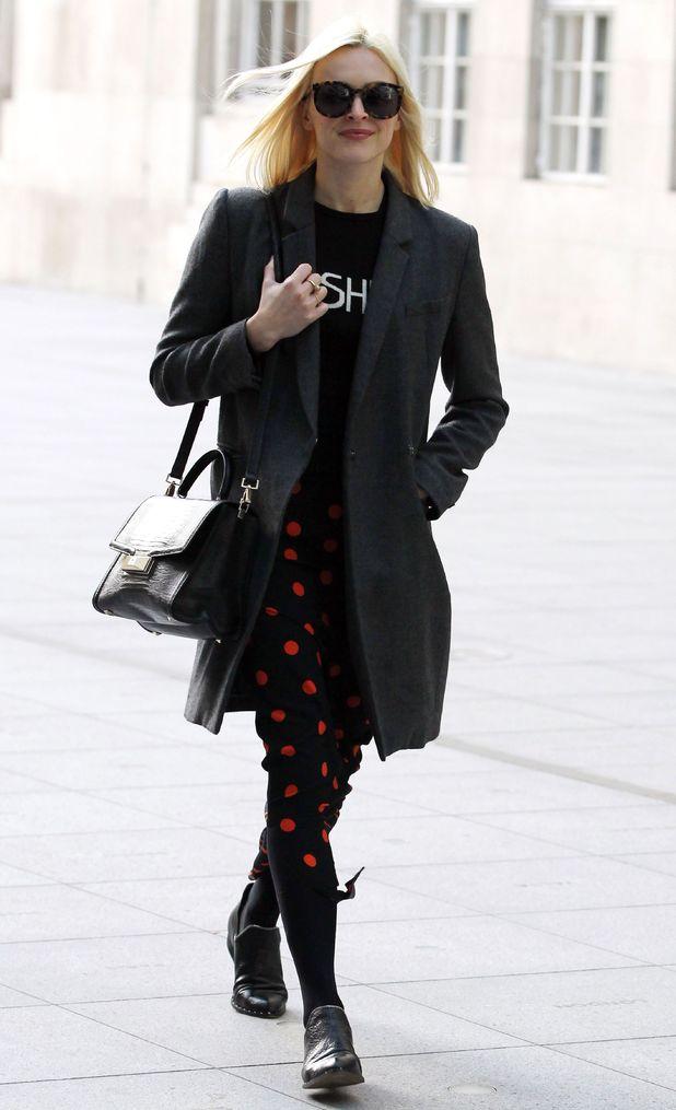 Fearne Cotton in polka dot skirt, 28th January.