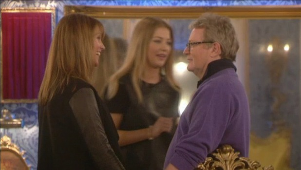 Jim Davidson's wife and daughter visit CBB house - 28 January 2014