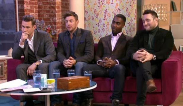 Blue - Antony Costa, Simon Webbe, Duncan James, Lee Ryan - appear on This Morning, 29.1.2014
