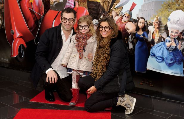 Luisa Zissman attends the VIP gala screening of Mr Peabody And Sherman 3D in London with her estranged husband and daughter Dixie - 01 Feb 2014